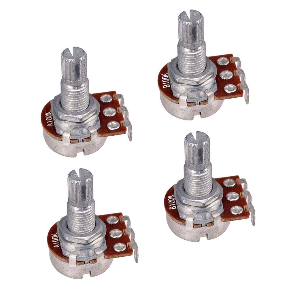 Electric Guitar Linear Audio Potentiometer Pots 2pcs A100K+2pcs B100K