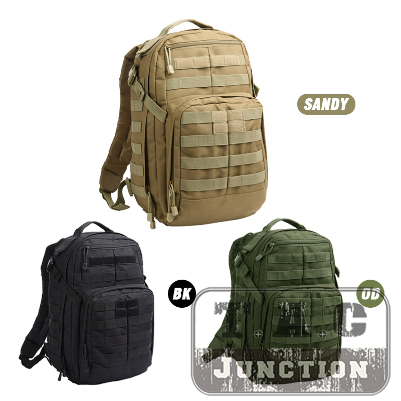 Tactical 24L Rucksack Bug Out Bag Military MOLLE Adjustable Backpack For Hunting Assault Survival Hiking Everyday Outdoor