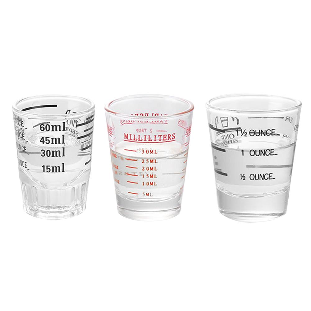 30/60 ML Glass Measuring Cup Espresso Shot Glass Liquid Glass Ounce Cup With Scale Kitchen Measure Tool Supplies