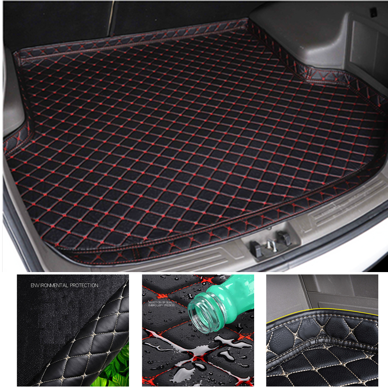 YJ99 XPE Leather Car Rear Trunk Mat For Toyota RAV-4 2016 2017 2018 2019 Year High Side Cargo Tray Boot Liner Carpet All Weather
