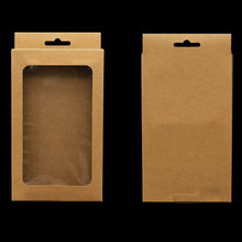 10pcs/set Decoration Brown Paper Wrapping Storage Wedding Jewelry Solid Merchandise Packing Box Multifunction With Clear Window(China)