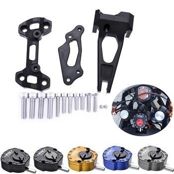 цена на For Yamaha MT09 FZ09 Steering Stabilize Damper Bracket Mount Kits for Yamaha MT 09 Street Rally FZ09 2014 2015 2016 2017 2018