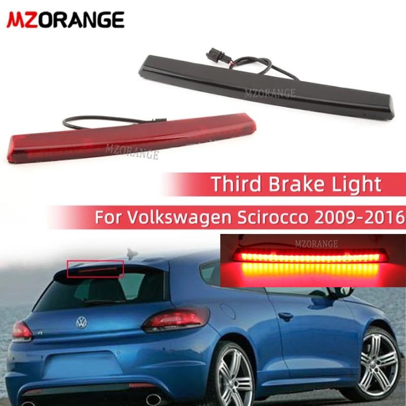 MZORANGE LED Dritte Bremse Licht Für Volkswagen Scirocco 2009-2016 Hinten 3rd Hohe Bremslicht Rücklicht Auto Zubehör rot/Schwarz