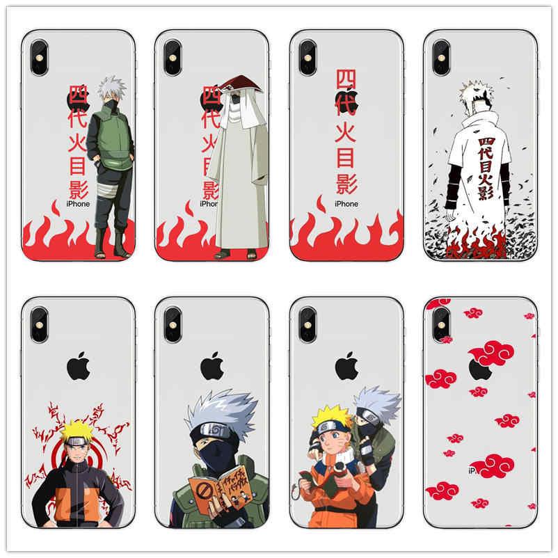 Uchiha sasuke kakashi Japanese Anime Hard PC Phone Case for iPhone 11 8 7 6 6S Plus 5 5S SE XR X XS MAX cover Coque Shell