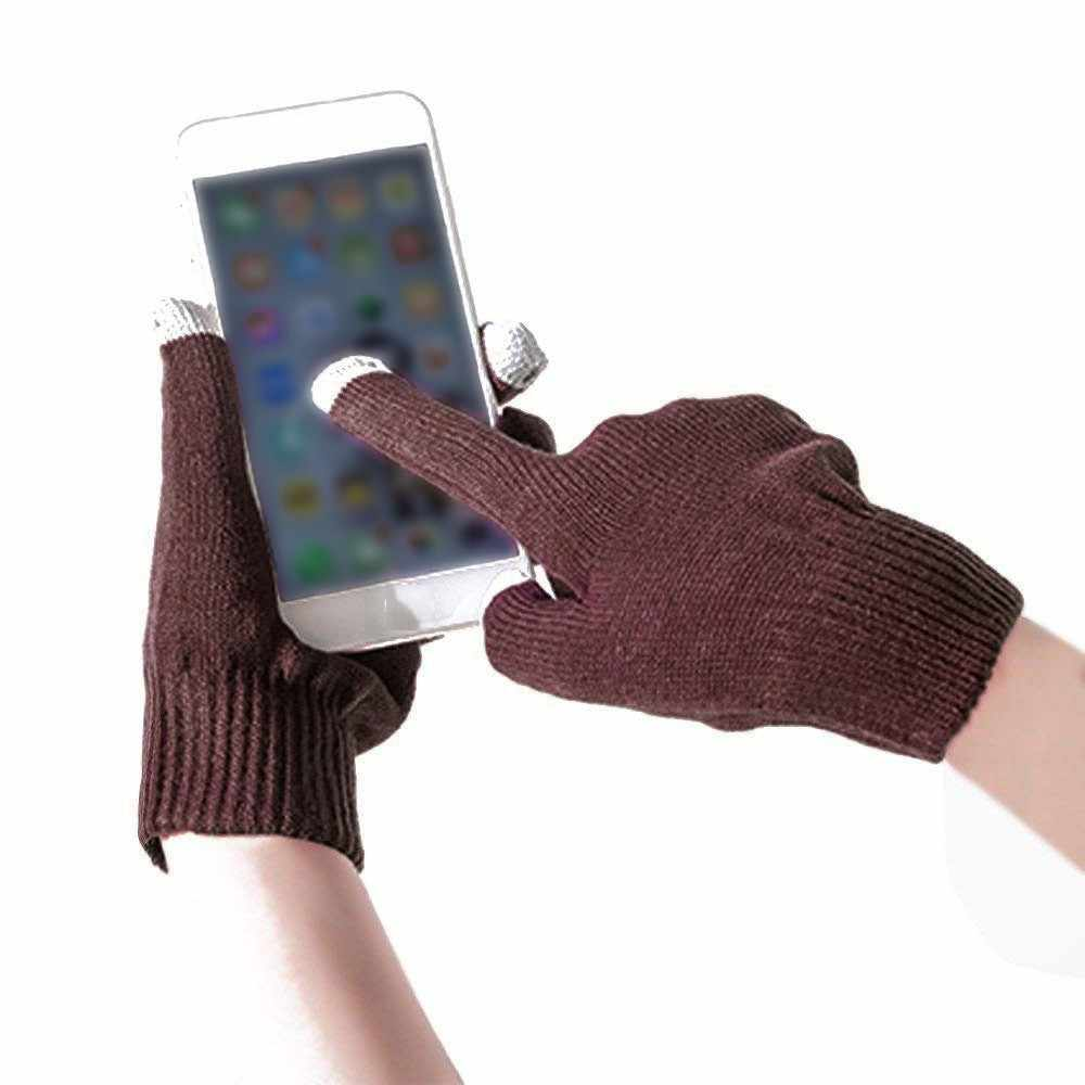 Unisex Touch Screen Gloves Texting Smartphone Winter Knitted Black Ladies Men'S Gloves Guantes Invierno Mujer Gants