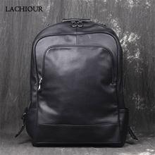 Большие Школьные рюкзаки lachiour мужской рюкзак из натуральной