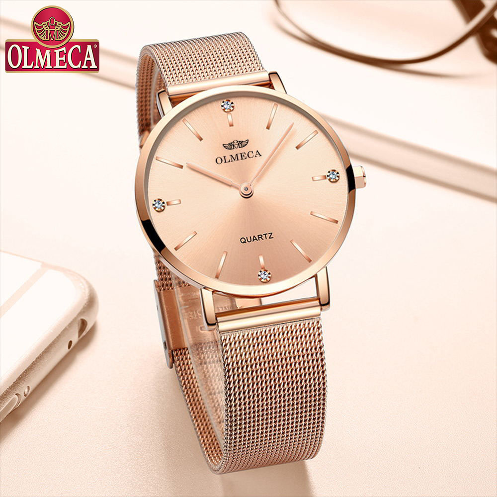 OLMECA Top Brand Luxury Watch Fashion Relogio Feminino Wrist Watch Water Resistant Women's Watches Drop-Shipping Dress Watches