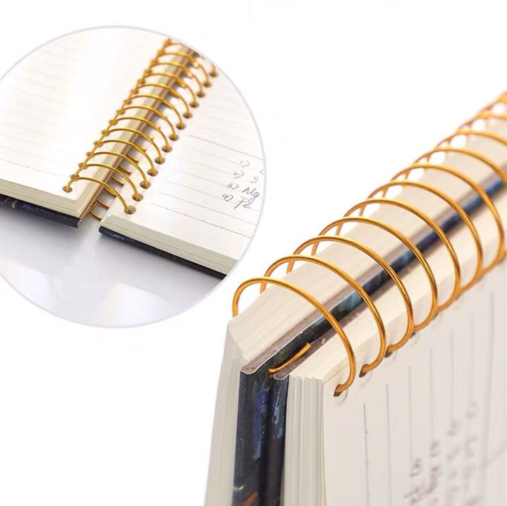 Image 4 - 2020 New 150 Sheets Thickened Vintage Van Gogh Notebook Planner Agenda Daily Monthly Study Work Notepad Agenda School StationeryNotebooks   -