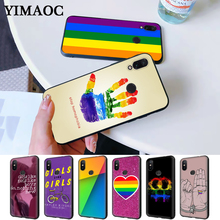 Gay Lesbian Rainbow Silicone Case for Redmi Note 4X 5 Pro 6 5A Prime 7 8