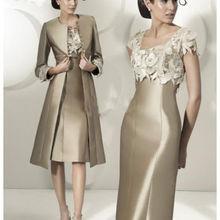 free shipping vestido de madrinha 2016 new fashion Plus size lace custom long sleeves wedding party