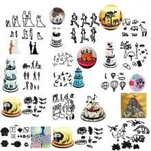 Новинка 2020, набор форм для украшения торта из мастики, пластиковые формы для печенья, кондитерские изделия для печенья, инструменты для выпечки, свадебная музыка, семейный воздушный шар с животными