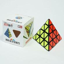 Shengshou Piramide 4X4-Magic Cube Speed Puzzel Cubes Sengso Pyraminds 4 Lagen Stickers Cubo Magico Speelgoed