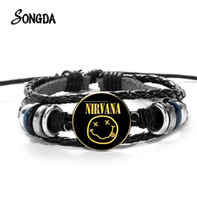 Beads Bracelets Bangles Rock-Band Smile-Nirvana Handmade Women Cabochon for Music-Fans
