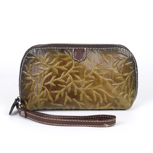 Image 5 - Johnature rétro luxe main portefeuille 2020 nouveau en cuir véritable à la main gaufrage femmes portefeuilles et sacs à main loisirs jour embrayages