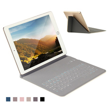 Mini Wireless Bluetooth Keyboard Slim Rechargeable PU Stand Case For iPad 2 3 4 Air 1 New 2017 2018 Pro 9.7 inch