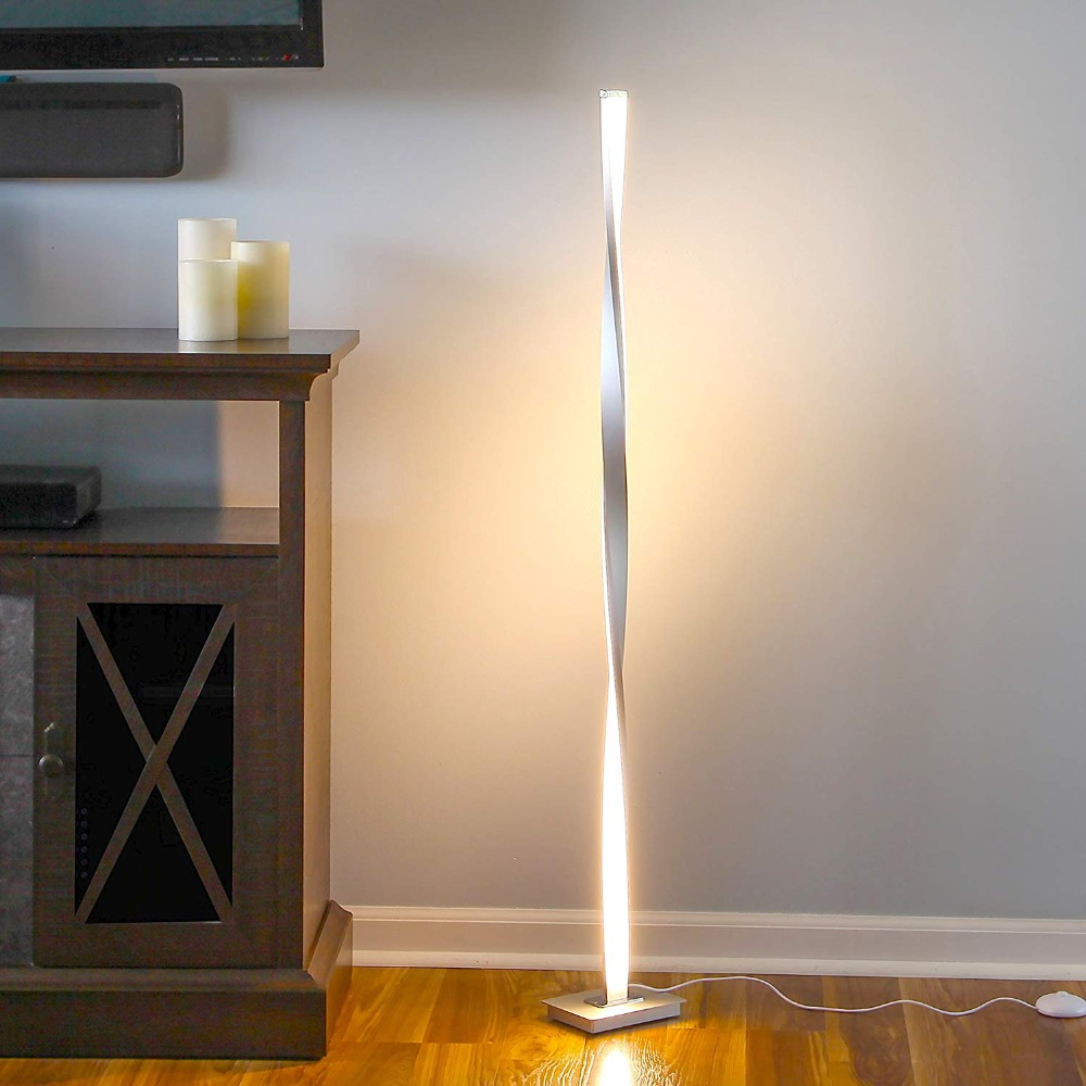US $17.17 17% OFFNordic LED Floor Lamp Metal Aluminum Dimmable LED  Standing Lights floor light for Living Room Bedroom Decor Luminaire table