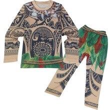 Sleepwear Pajamas Moana-Costume Child Maui Pants Shirt Halloween Infant Cotton for Toddler