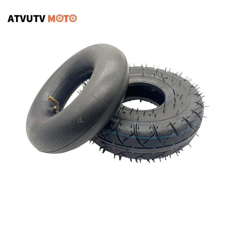 410/350-4 4.10/3.50-4 אופנוע חלקי פנימי וoutter tyreTube עבור 43cc 49cc Mini Quad אופניים טרקטורונים 4 גלגלים