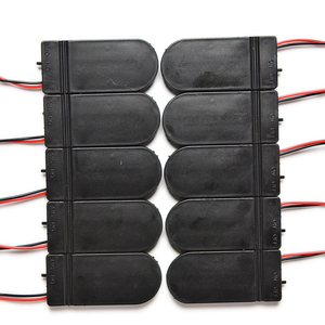 Image 1 - 10pcs CR2032 Button Coin Cell Battery Socket Holder Case Cover With ON/OFF Switch 3V x2 6V battery Storage Box