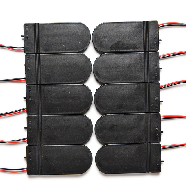 10pcs CR2032 Button Coin Cell Battery Socket Holder Case Cover With ON/OFF Switch 3V x2 6V battery Storage Box
