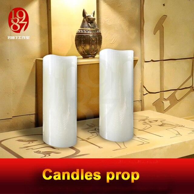 실생활 탈출 방 게임 propTAKAGISM 게임 소품 불어 촛불 밖으로 또는 순서대로 불어 센서는 문을 열려면 램프에 불어