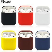 BOORUI Мягкий силиконовый чехол s для Airpods противоударный чехол для умных наушников ультратонкий протектор чехол с модными цветами