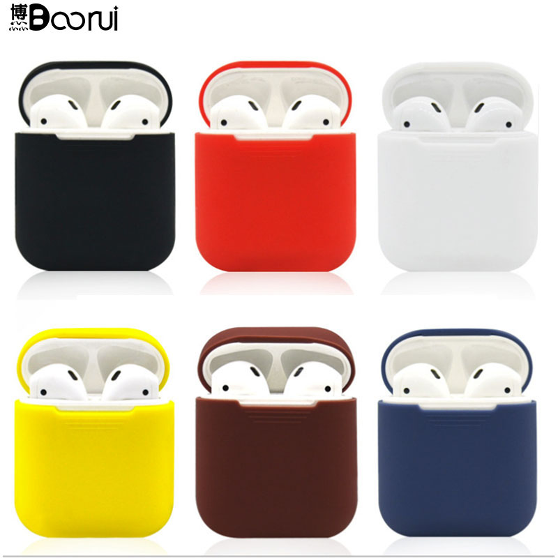 BOORUI Soft Silicone Cases For Airpods Shockproof Cover For Smart  Earphones Ultra Thin  Protector Case With Fashional Colors
