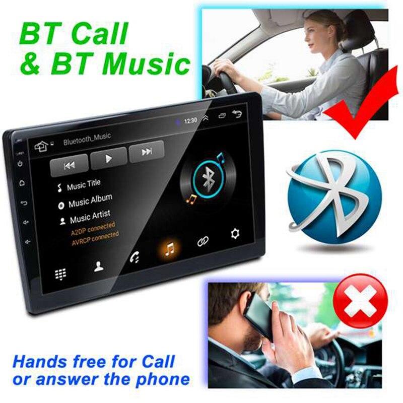 2 Din 9 Cal Android 8.1 uniwersalne Radio samochodowe podwójne Din Stereo nawigacja Gps w desce rozdzielczej wideo wifi usb Bluetooth Radio samochodowe Multi