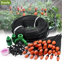 KESLA 30M Micro Drip Irrigation Garden Watering System Adjustable Automatic Kits Spray Cooling Potted Lawn Yard Tap Connector