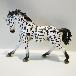 Image 4 - PVC Simulation paard animal Model Horses 5inch Denmark Knabstrupper Mare toy Figure farm animals toys Fairy Garden Decoration
