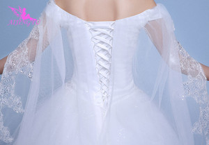 Image 5 - AIJINGYU 2021 real photos new hot selling cheap ball gown lace up back formal bride dresses wedding dress WK595