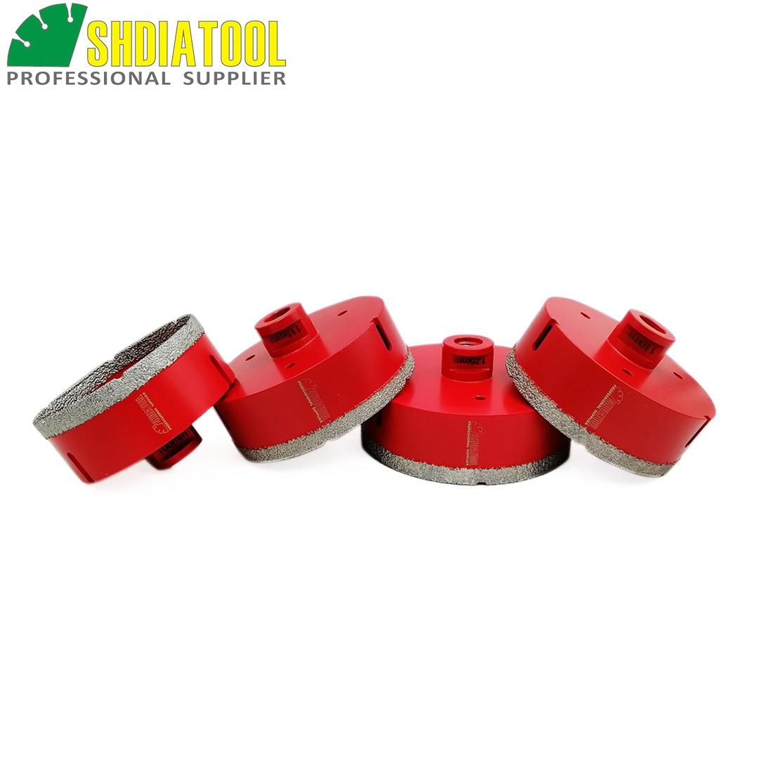SHDIATOOL 100/110/115/125mm Vacuum Brazed Diamond M14 Drilling Drill Core Bit Diamond Height 10mm Hole Saw Porcelain Tile