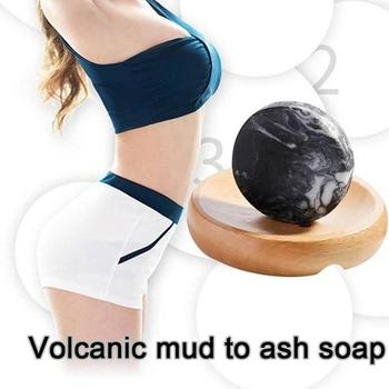 Vulkanischen Ton Kaffee Abnehmen Seife Bar Haut Bleaching Körper Klar Anti Bakterielle