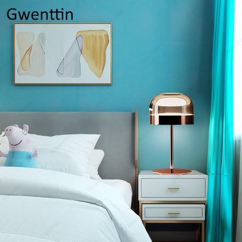 lampada de mesa luxo moderno cogumelo pe