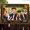 1Pcs Black Gold Graduation Frame Graduation Party Booth Props Graduation Photo Decor DIY Photo Props Graduation Party Supplies