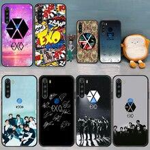Чехол для телефона EXO Kpop, чехол для XIAOMI Redmi Note 6 7 8 9 10 T S A K 20 30 40 Pro, Черный силиконовый чехол, красивая задняя крышка из ТПУ