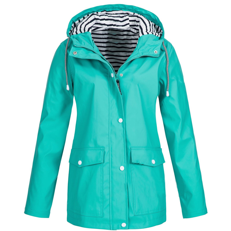 CINESSD Women Autumn Winter Waterproof Jacket Coats False Two Piece Zipper Single Breasted Solid Casual Hooded Trench Jackets Trench  - AliExpress