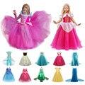 Нарядное платье для девочек; Платье принцессы для косплея Спящей красавицы на Хэллоуин; Карнавальное платье с длинными рукавами для девоче...