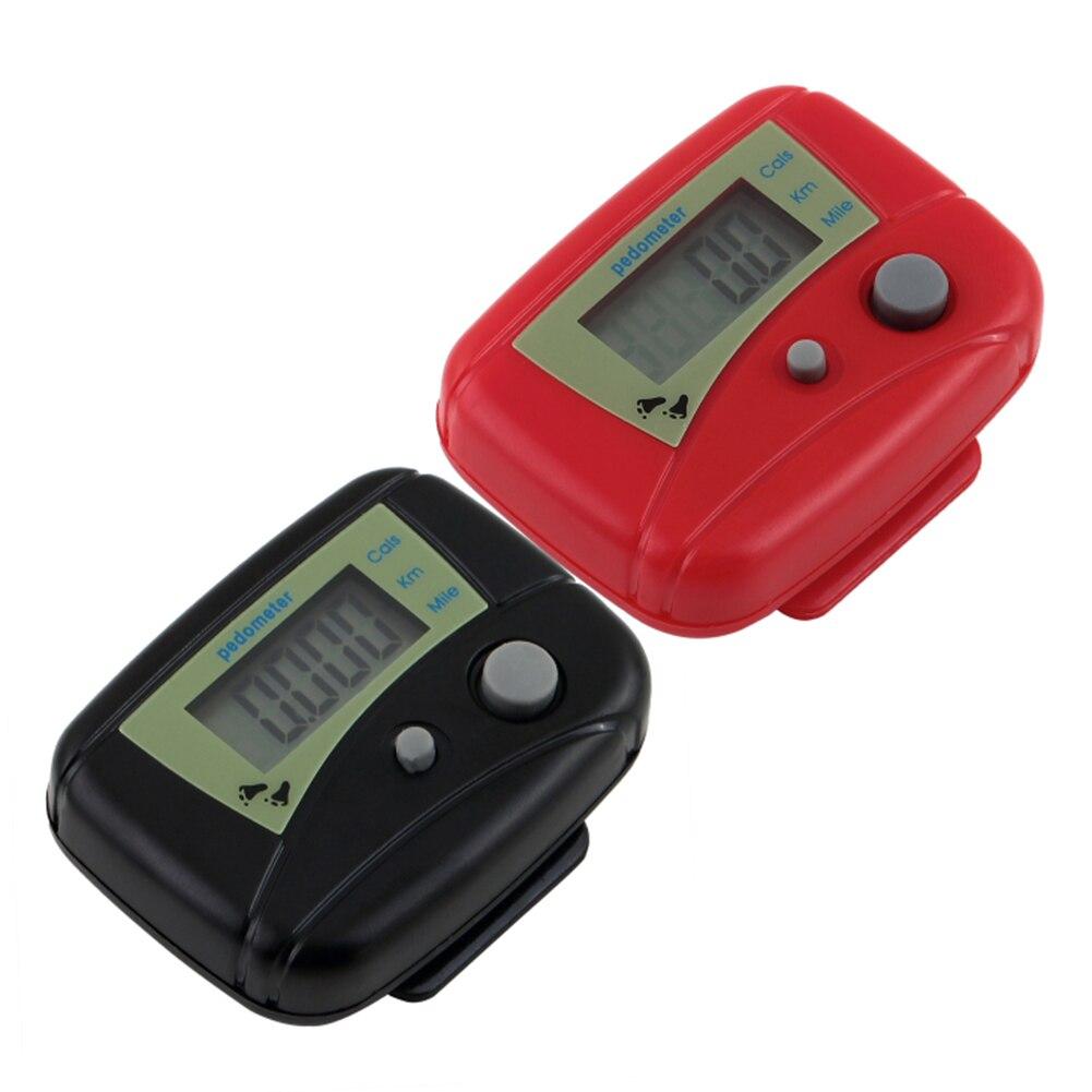 Купить с кэшбэком 1PC Long-life battery Multifunction New Fitness Electronic LCD Digital Display Pedometer Step Walking Joggings Distance Counter