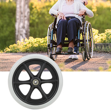8 Inch Wheelchair Front Wheels Disabled Anti-Slip Rubber Wheels Wheelchair Accessory Wheelchair Wheels taken on airplane durable folding electric wheelchair for disabled and elderly