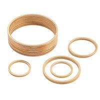 10 Uds de acero inoxidable chapado en oro círculo pendientes conectores pendiente del encanto 20mm enlace anillo O para fabricación de joyería DIY pendiente encontrar