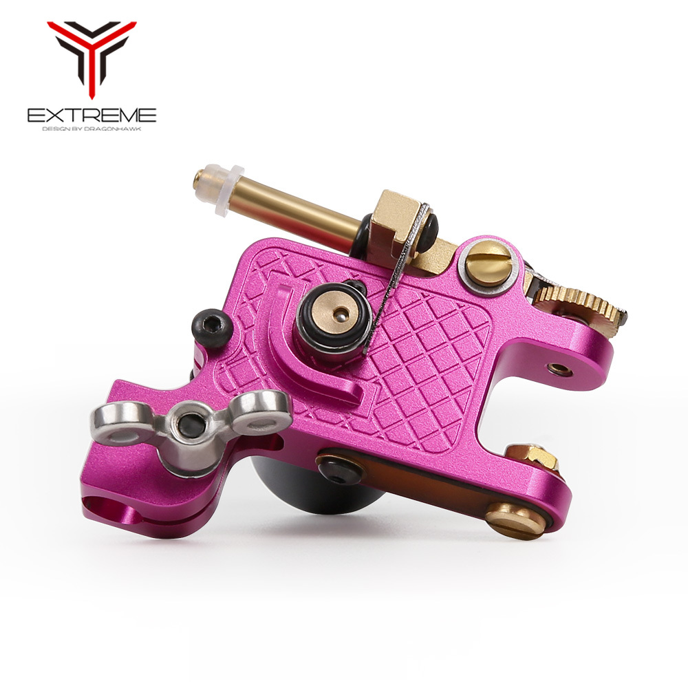 New Style Pink Tattoo Rotary Machine Guns Liner Shader Tattoo Machine Car Accessories For Tattoo