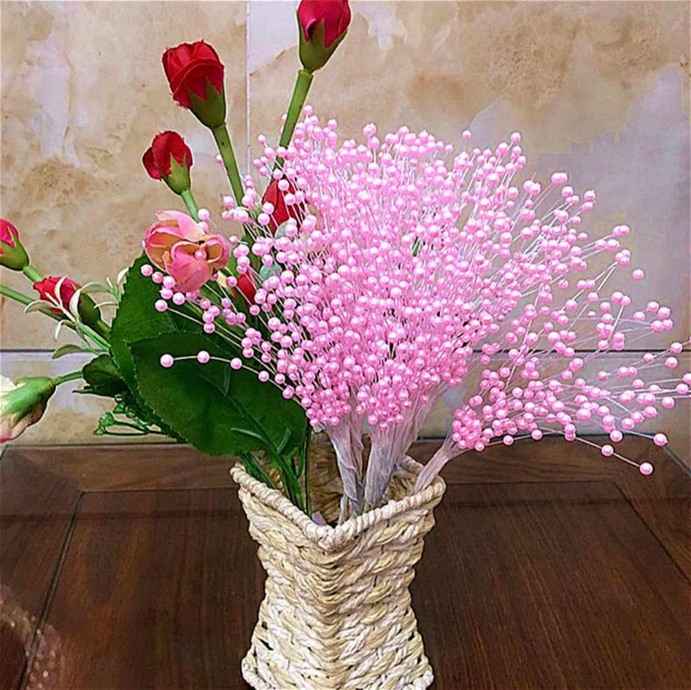 Suef 10 pçs pérola estrela galho noiva detém bouquet de casamento decoração do quarto flores @ 1