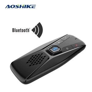 AOSHIKE Handsfree Bluetooth Car Kit Wireless Speaker Auto Sun Visor MP3 Player Bluetooth 5.0 Speakerphone for Phone Hands Free(China)