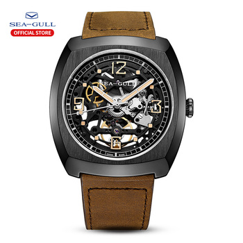 2020 Seagull Watch Men's Barrel Automatic Mechanical Watch Hollow Perspective Luminous Mechanical Watch Large Dial 849.27.6094 1