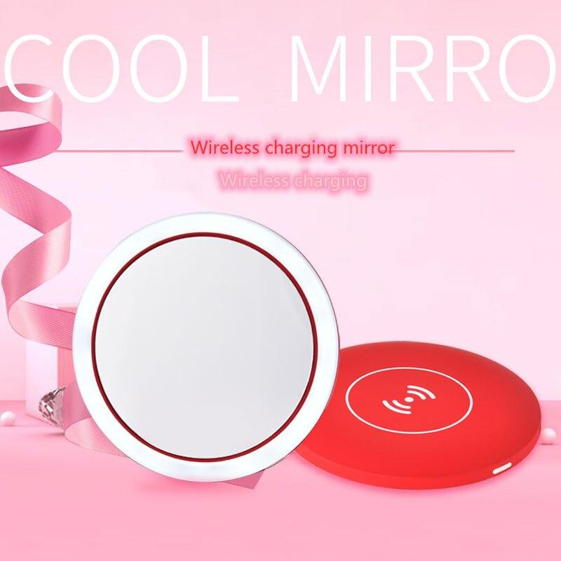 Wireless Charging Makeup Mirror LED Smart Makeup Mirror Portable Makeup Mirror