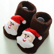 Newborn Non-slip Floor Xmas Socks Cotton Socks Baby Soft Warm Winter Thick Baby Cute Warm Socks Christmas Wholesale Dropshipping(China)