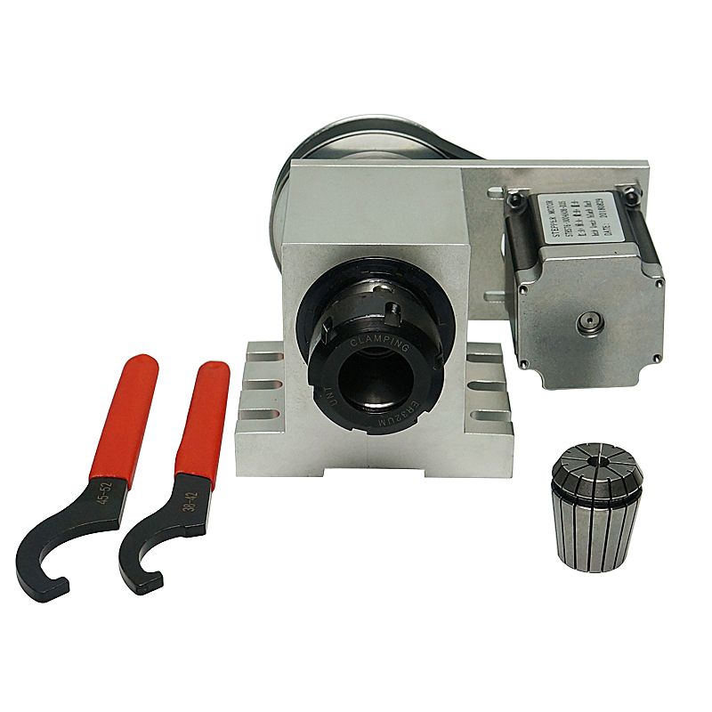 3M-6-ER32 CNC Dividing Head Rotary Axis With ER32 Collet Chuck 4th Axis Harmonic Drive