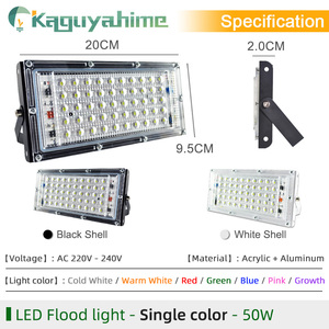 Image 3 - Kaguyahime LED Floodlight 50W 220V Street Lamp Waterproof IP65 Spotlight Reflector focus LED Light Outdoor Cold White Spot Light