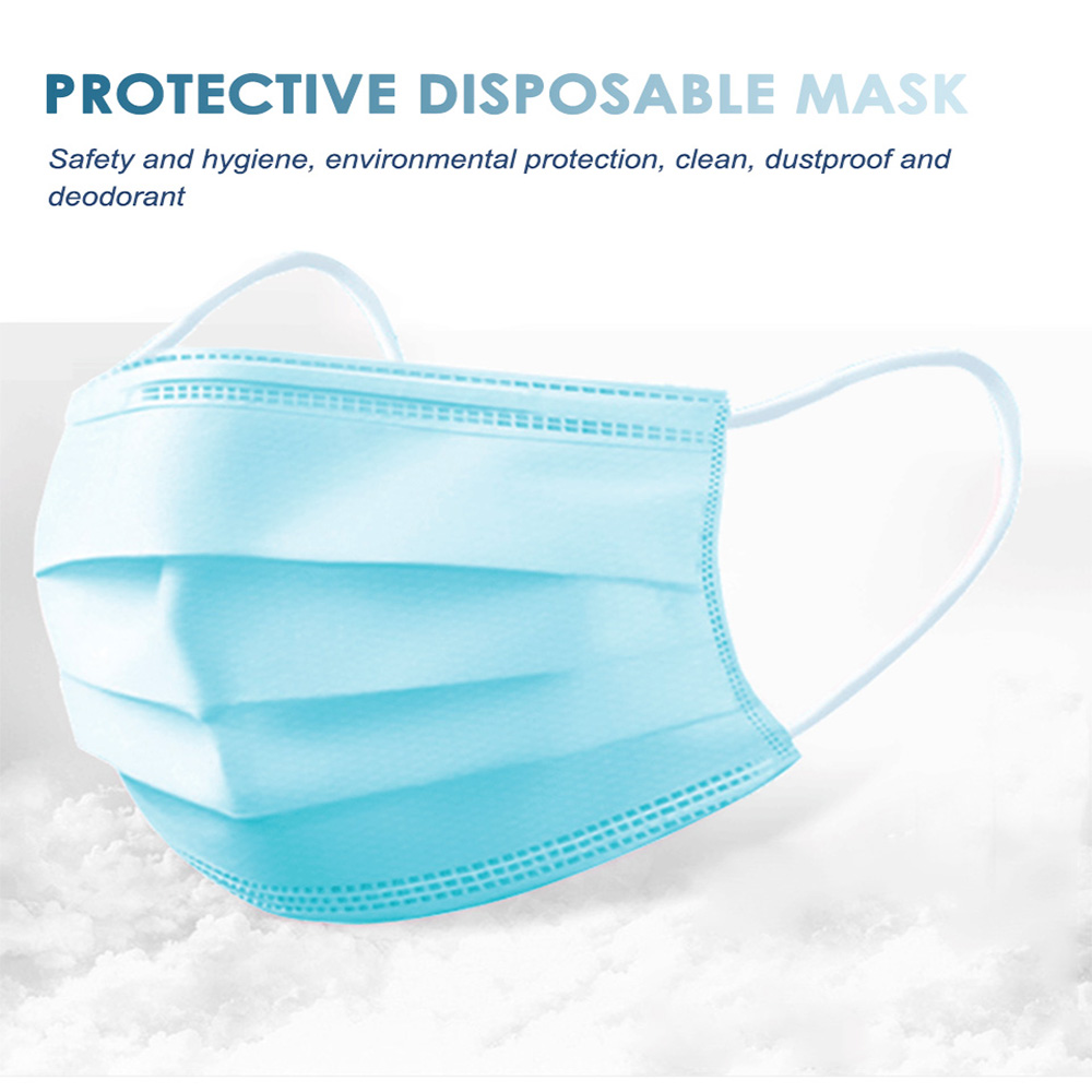 50pcs Medical Disposable Masks For Men And Women Thick  Dustproof Breathable Anti-bacterial Anti-fog Mask Dust-Proof Safety Mask